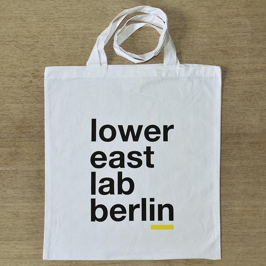 lower east lab berlin printed tote bag