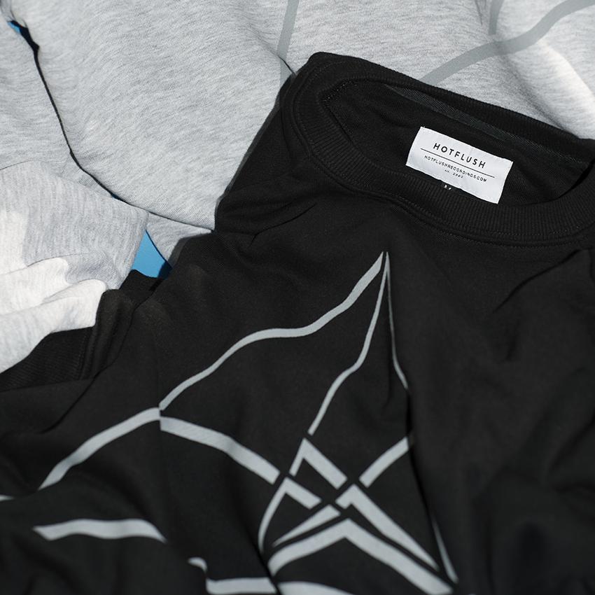hotflush recordings, third dimension sweatshirts details